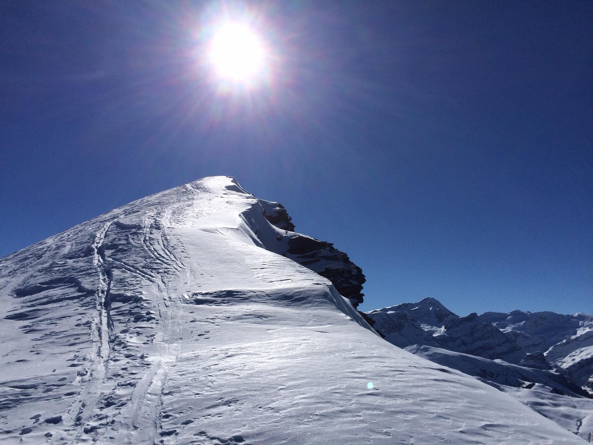 Der wunderschöne Gipfelgrat