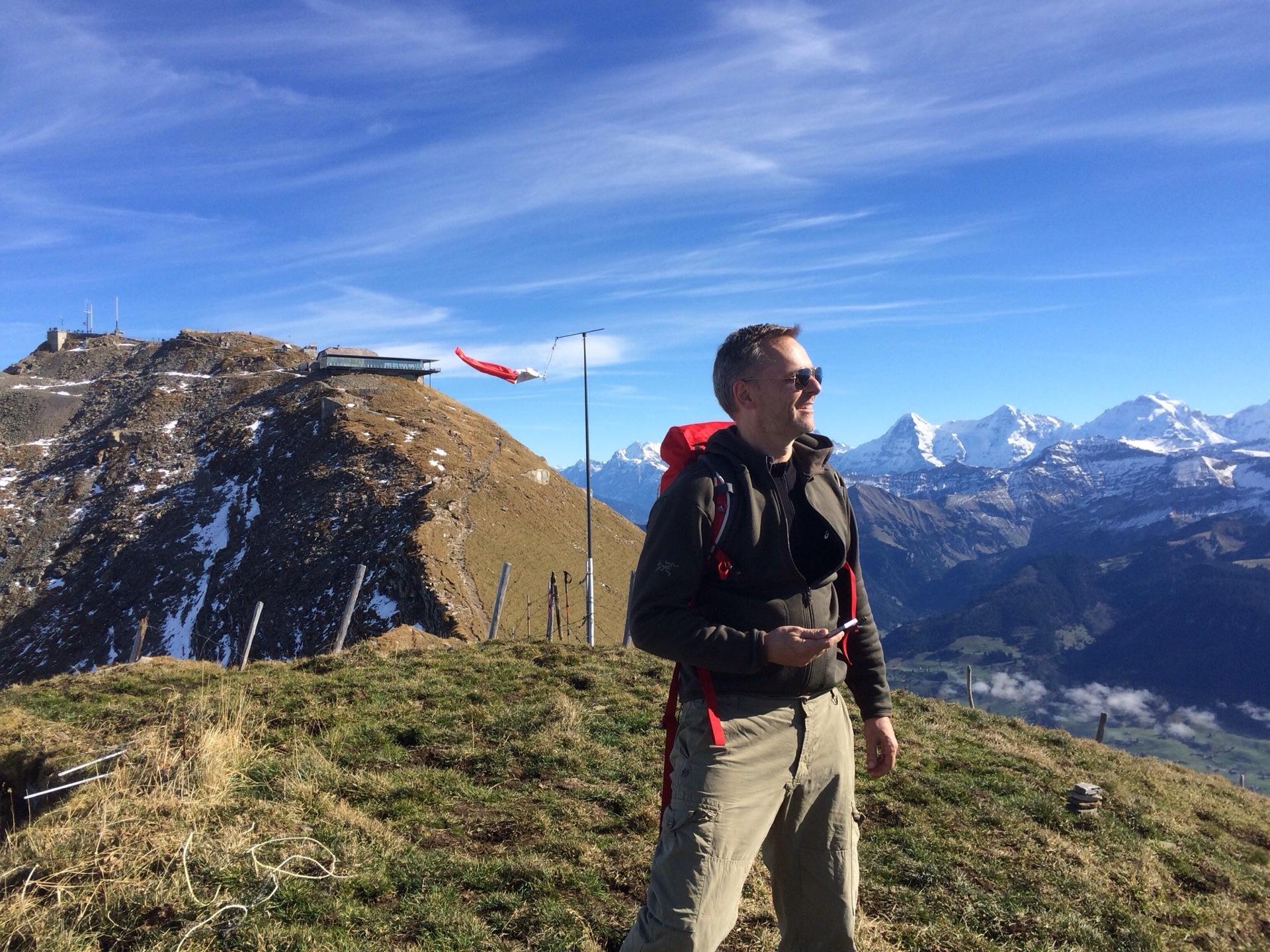 Ruhige (Vor-)Gipfelfreude, ganz oben winkt der Trubel...